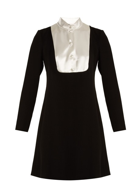 lanvin dress satin white black