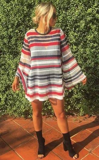 dress stripes red blue orange white green colorful