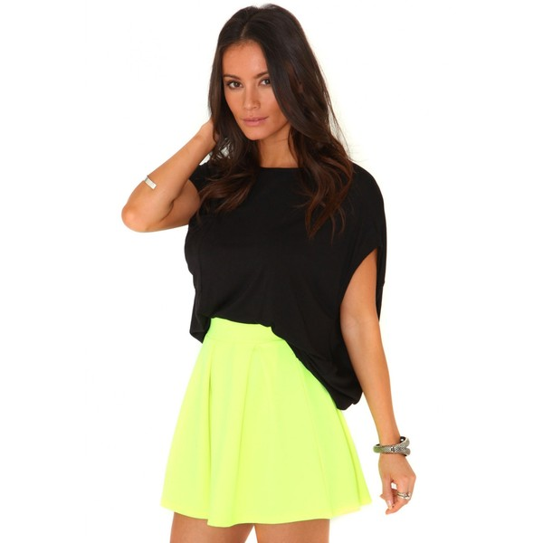 Missguided Tullisa Neon Pleated Mini Skirt In Yellow - Polyvore