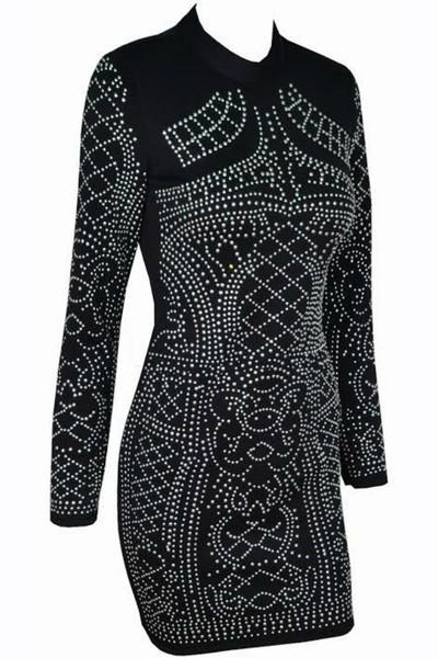 Tamara - Beaded Geometry Bodycon Dress