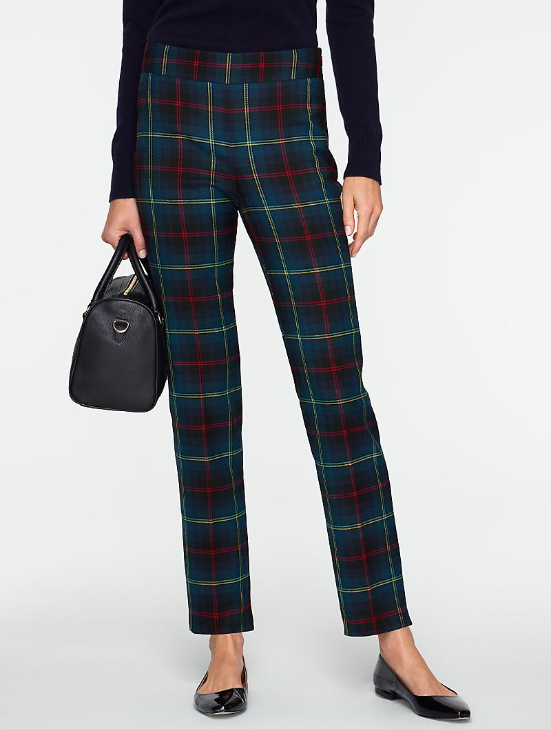 Heritage tartan straight leg pants