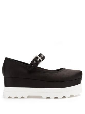 pumps satin black shoes