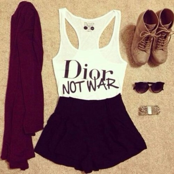 top sunglasses jewels leather boots skirt sweater cardigan tank top