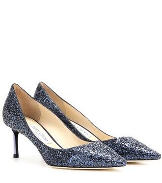 glitter pumps blue shoes