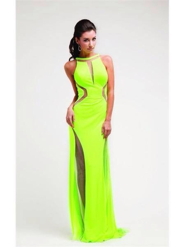 dress lime evening dress beautiful prom dress debs dress gorgeous long evening dress long dress