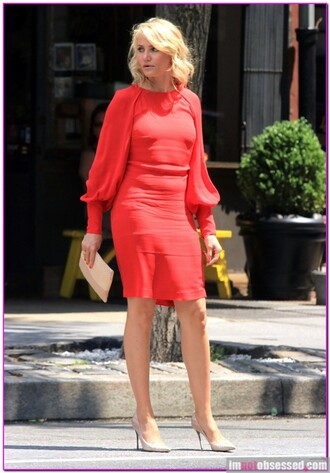 formal dress super hot cameron diaz blonde hair theotherwoman movie wheretogetit? official party outfits office dress long sleeve dress red dress