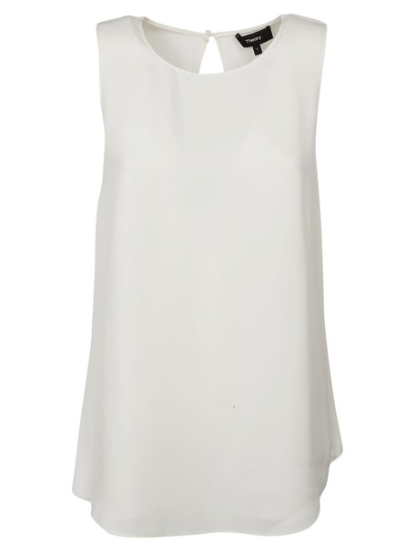 theory blouse back top