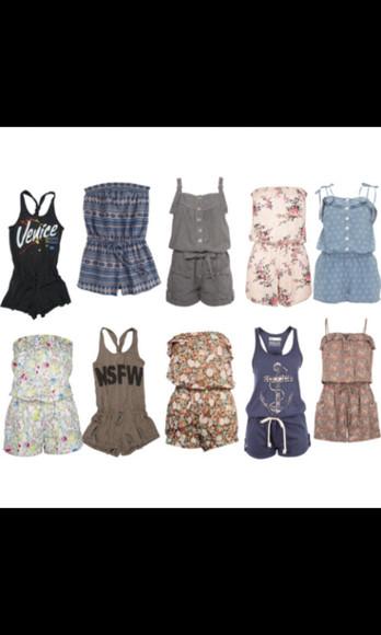 vintage print floral jumpsuit/rompers floral venice
