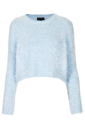 Knitted Fluffy Crop Jumper - Topshop