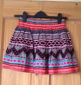 H&H Divided Aztec tribal Skater Skirt Size 8 | eBay