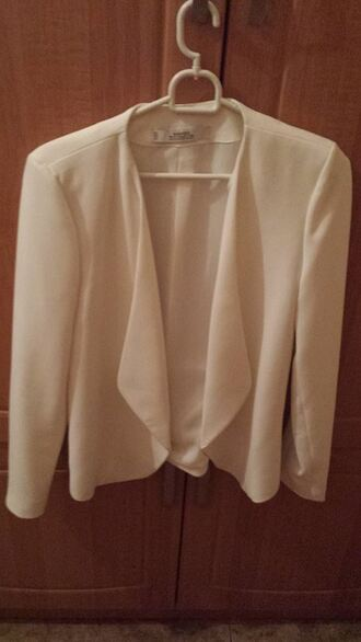 jacket summer spring fall outfits white jacket zara white blazer elegant mango waterfall structured jacket