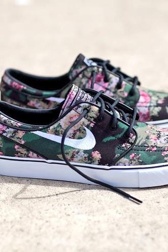 shoes nike florals nike sb stefan janoski ?digi floral camo?