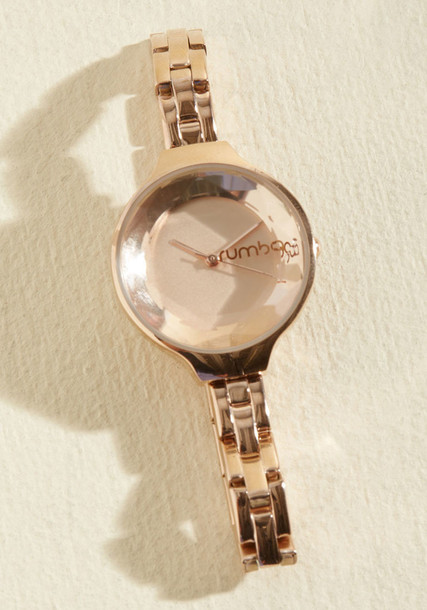 Modcloth rose gold rose watch gold jewels