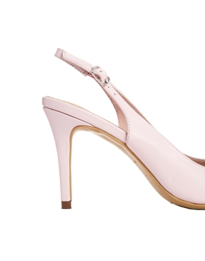 Pink | New Look Turret Pink Slingback Heeled Shoes at ASOS