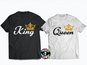 t-shirt,king queen hats,KING queen king queen,gold,gold chain,gold sequins,crown,flower crown,gold crow jewles,gold king and queen,king queen t shirts,king and queen shirts,black and white,black top,white t-shirt,black t-shirt,black t-shirt dress,5sos tees,sexy,matching couples,couple,matching tee shirts,couples shirts,best friend shirts,beyonce shirts