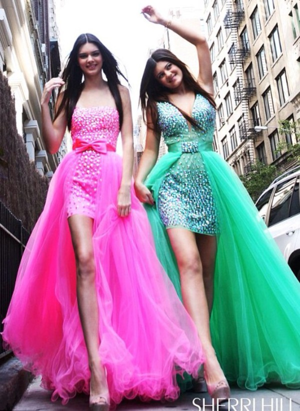 dress green dress pink dress glitter dress high low dress prom dress
