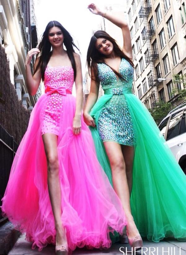 dress green dress pink dress glitter dress high low dress prom dress