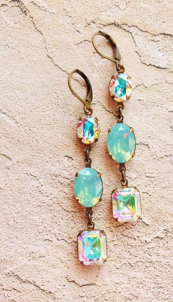 jewels rainbow blue earrings earrings
