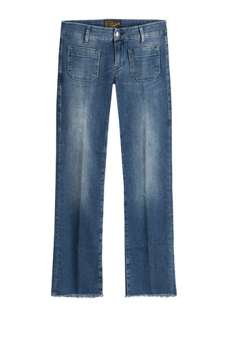 jeans cropped blue