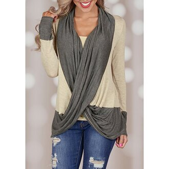 cardigan casual grey fall outfits long sleeves fashion style beige trendy clothes warm winter outfits rose wholesale-jan