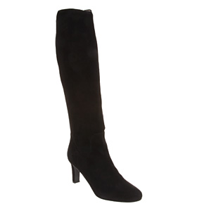 Office eliana knee boot black suede shoes