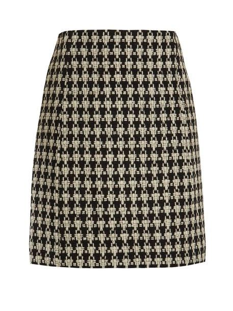 S MAX MARA skirt white black