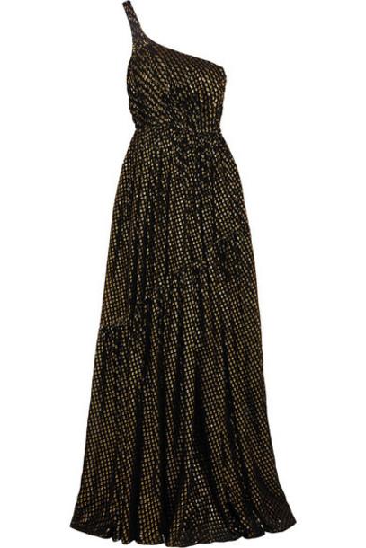 Stella McCartney gown chiffon metallic gold silk dress