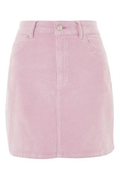 Topshop skirt mini skirt mini pale velvet pink
