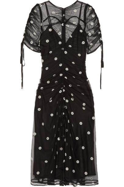Alice McCall dress midi dress embroidered midi garden party black