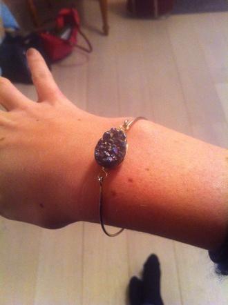 jewels bracelets bracelet bangle stone druzy drusy agate