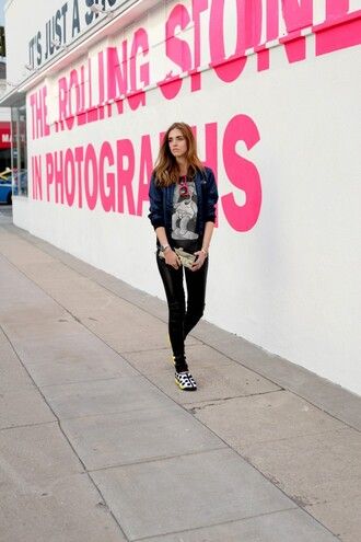 the blonde salad blogger shoes pants t-shirt jacket bag sunglasses