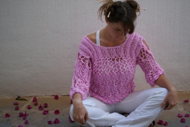 sweater pink wonder woman knitted cardigan