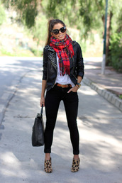 seams for a desire,jacket,t-shirt,jeans,belt,shoes,scarf,bag,shirt,pants,black studded leather jacket,black leather,gold studs,leather jacket,studded jacket,sunglasses