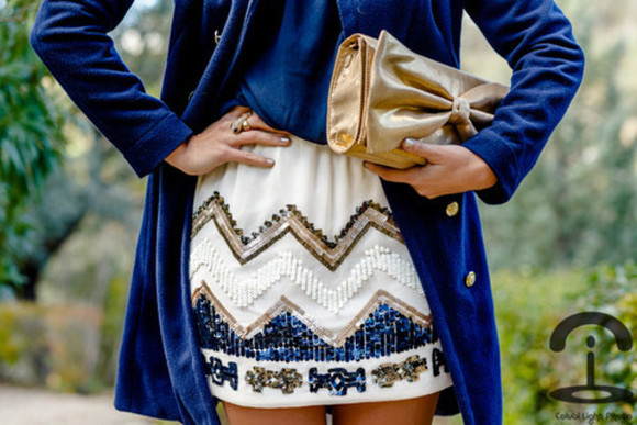 sparkle skirt blue and gold gold blue and white clothes underwear