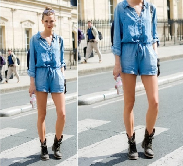 romper jeans denim jumpsuit casual loose shoes boots biker biker boots lace up