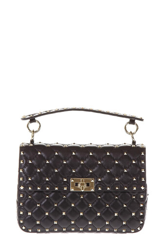 quilted bag leather bag leather black