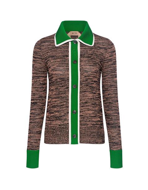 No.21 top knit green