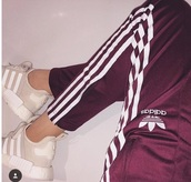 pants,adidas,adidas originals womens bordeaux.,addidas pants