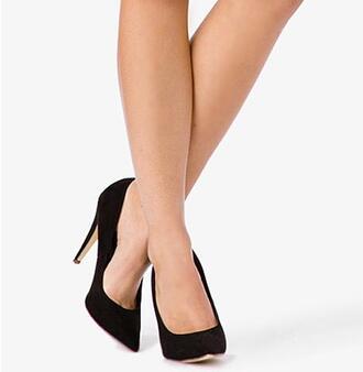shoes heels black fashion stilettos black stilettos pointed toe forever 21 black heels