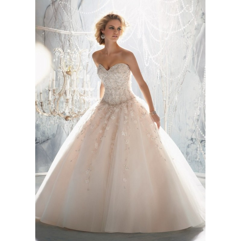 Mori Lee 1970 Beaded Ball Gown Wedding Dress - Crazy Sale Bridal ...