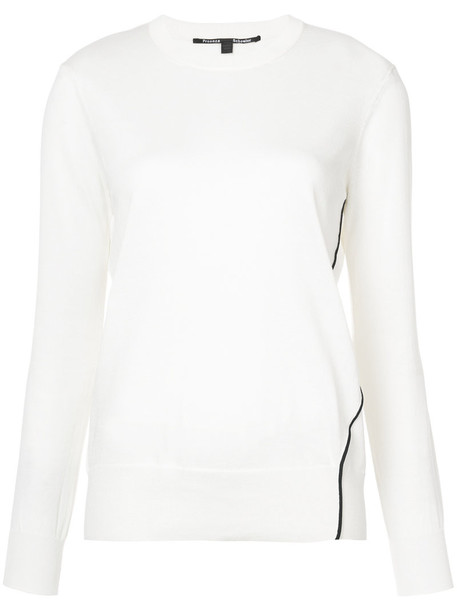 Proenza Schouler pullover women white cotton silk sweater