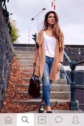 coat beige maxi fall coat