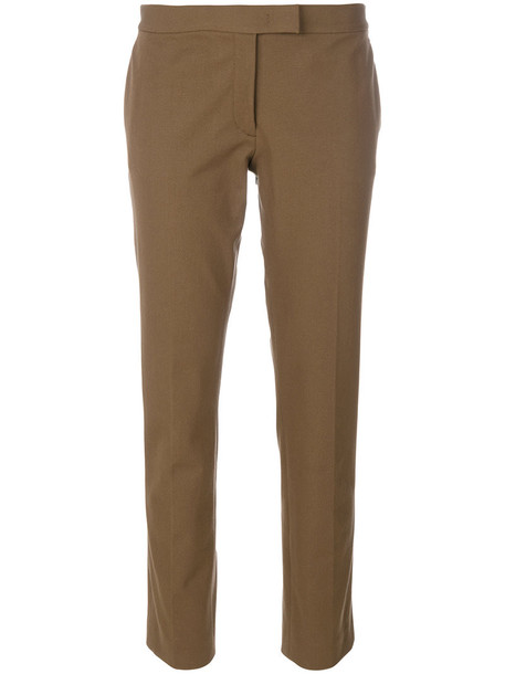 women spandex fit cotton brown pants