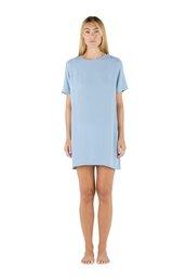 dress,sapia simone swimwear,mini dress,short sleeve dress,sky blue,elegant,bikiniluxe