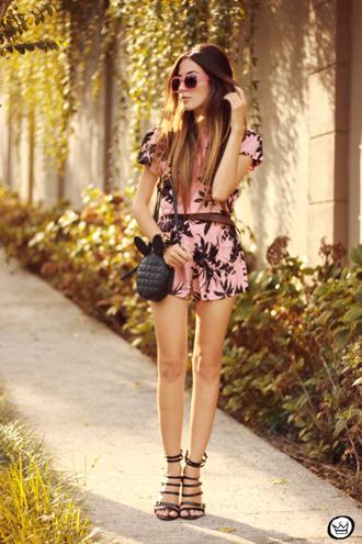 fashion coolture romper sunglasses bag shoes