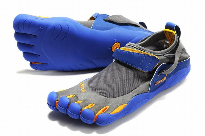 mens 5 fingers kso cinder/yellow/blue barefoot footwear