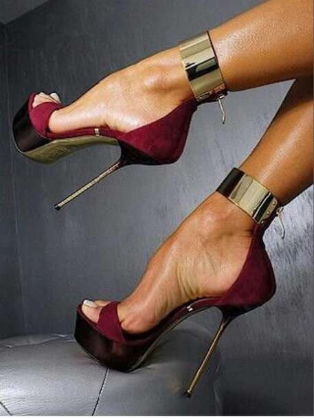 shoes hot sexy shoes high heels red stilettos style stylish burgundy heels burgundy maroon heels burgundy heels high heels gold gold heels sexy heels fashion ankle strap heels platform shoes pumps