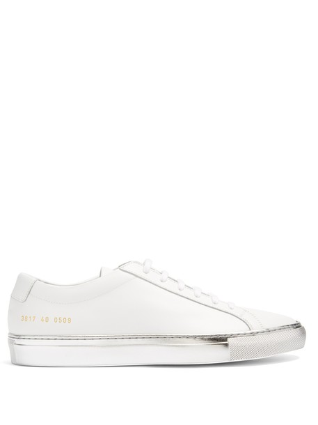 Common Projects top leather silver white