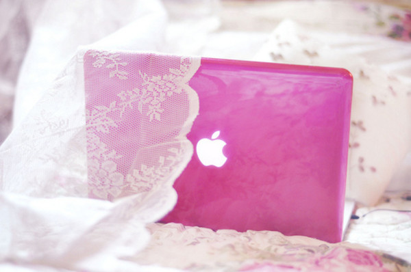 coat pink cover macbook apple cute