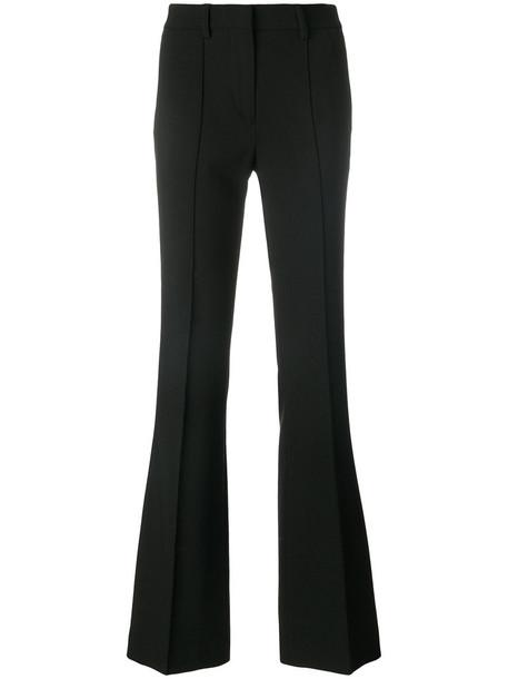 ETRO high waisted high women black wool pants